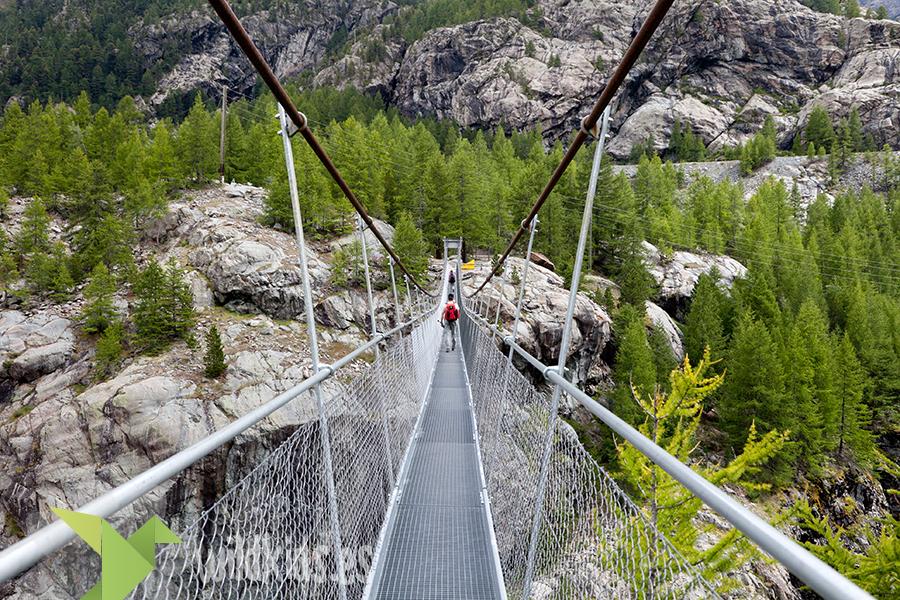 Puente colgante de Zermatt