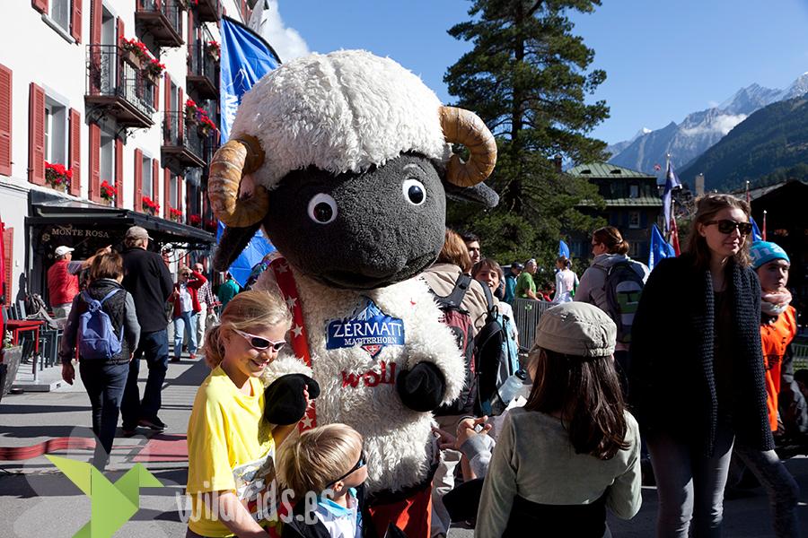 Wolli, la simpática mascota de Zermatt