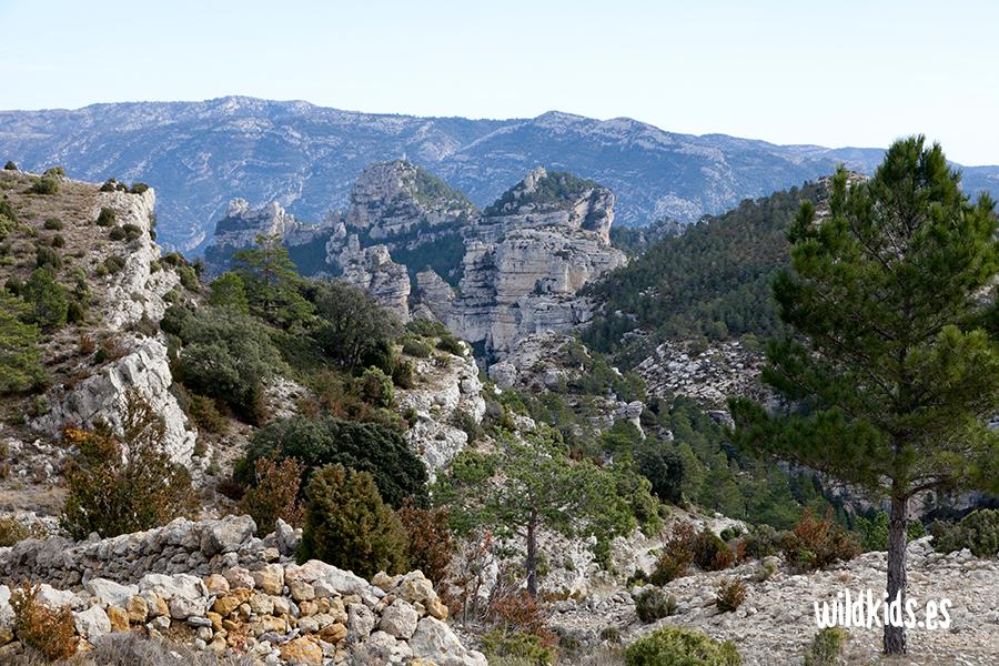 Vistas del Portell de l´Infern desde el Mas de Pixón