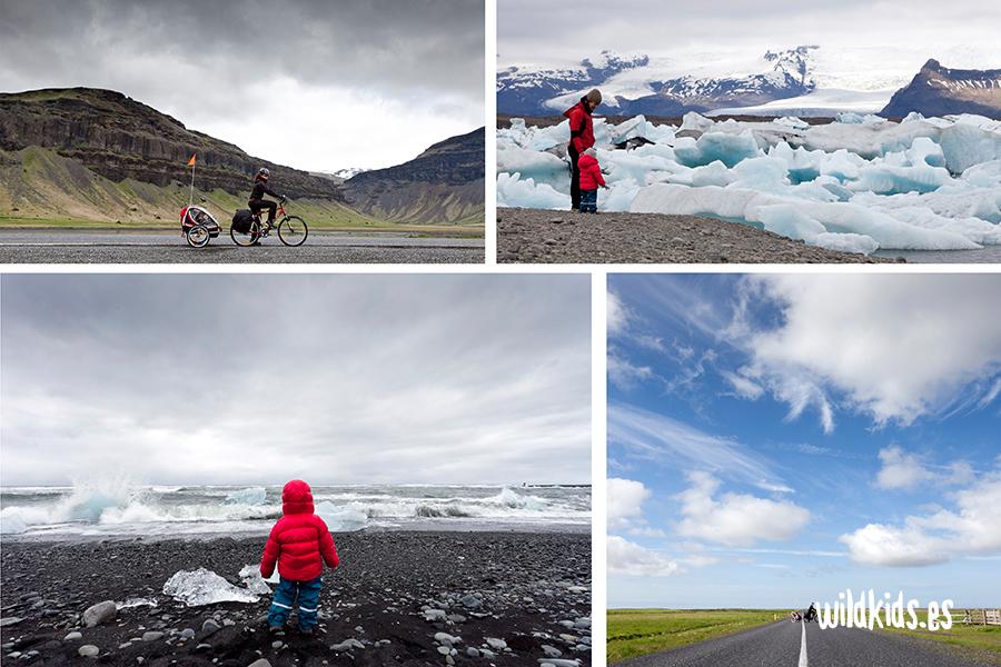islandia en bicicleta con niños