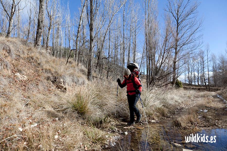 Primeros pasos por el barranco de Arroyo Cerezo
