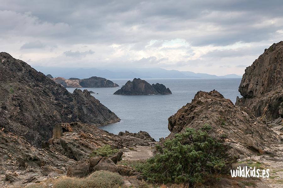 La isla de Portaló desde el Mirador
