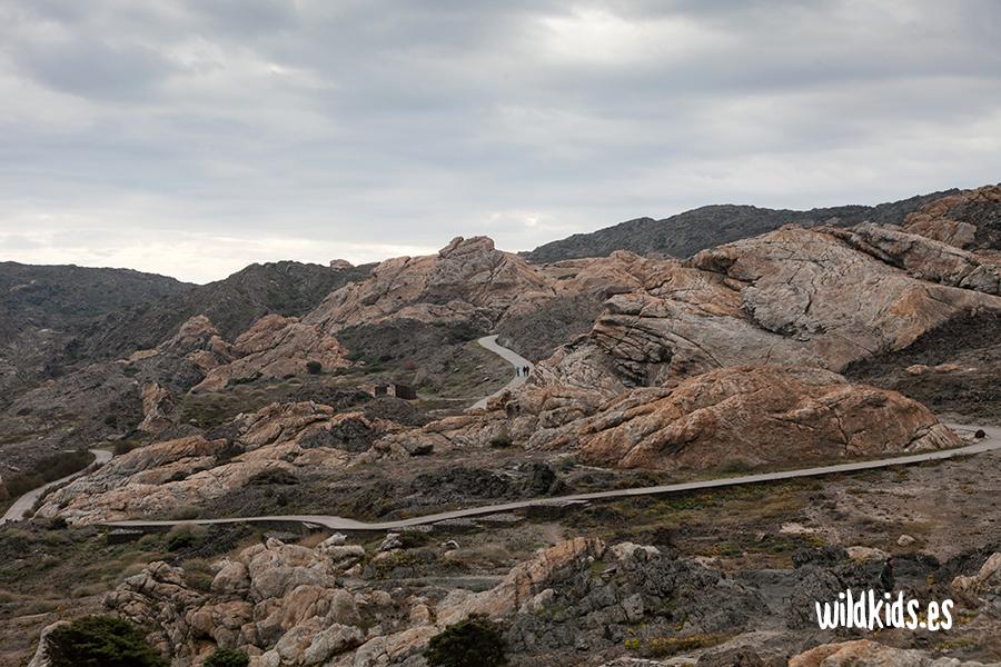 Vistas del camino desde el Mirador de Pamperris