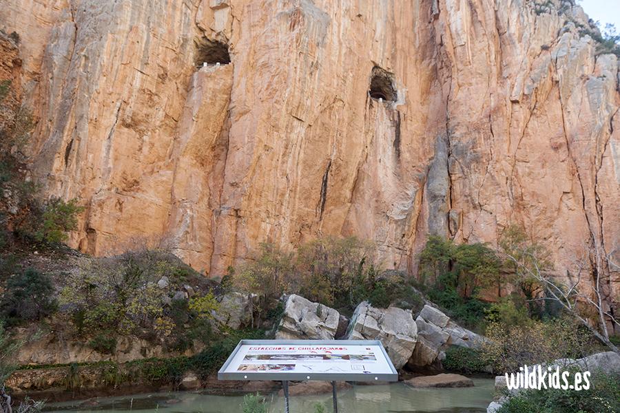 Sendero familiar de Montanejos. Final del recorrido por el Estrecho de Chillapájaros